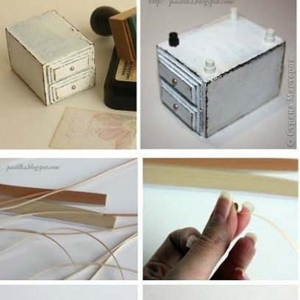 Как сделать тумбочку из спичечных коробков своими руками 26