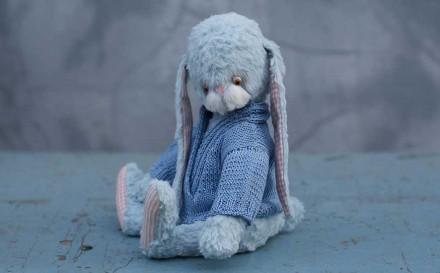 заяц зайчик автосркий заяц Гузель Костына заяц из вискозы